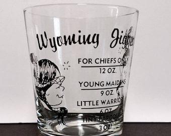 Collectible Bar Ware - Wyoming Shot Glass Jigger - Bar Mixer Glass-Unique and rare collectible