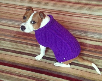 Hand Knitted / Dog Jumper / Cat Jumper / Custom Made for All Sizes and Shapes / Dog Sweater / Cat Sweater / Pet Clothing / Winter Coat