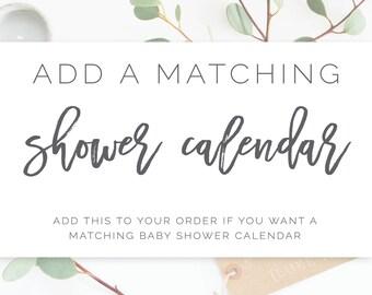 Add On: Baby Shower Calendar