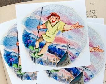 "Little Quasi 4x4"" Print on Fine Art Quality Lustre Paper."