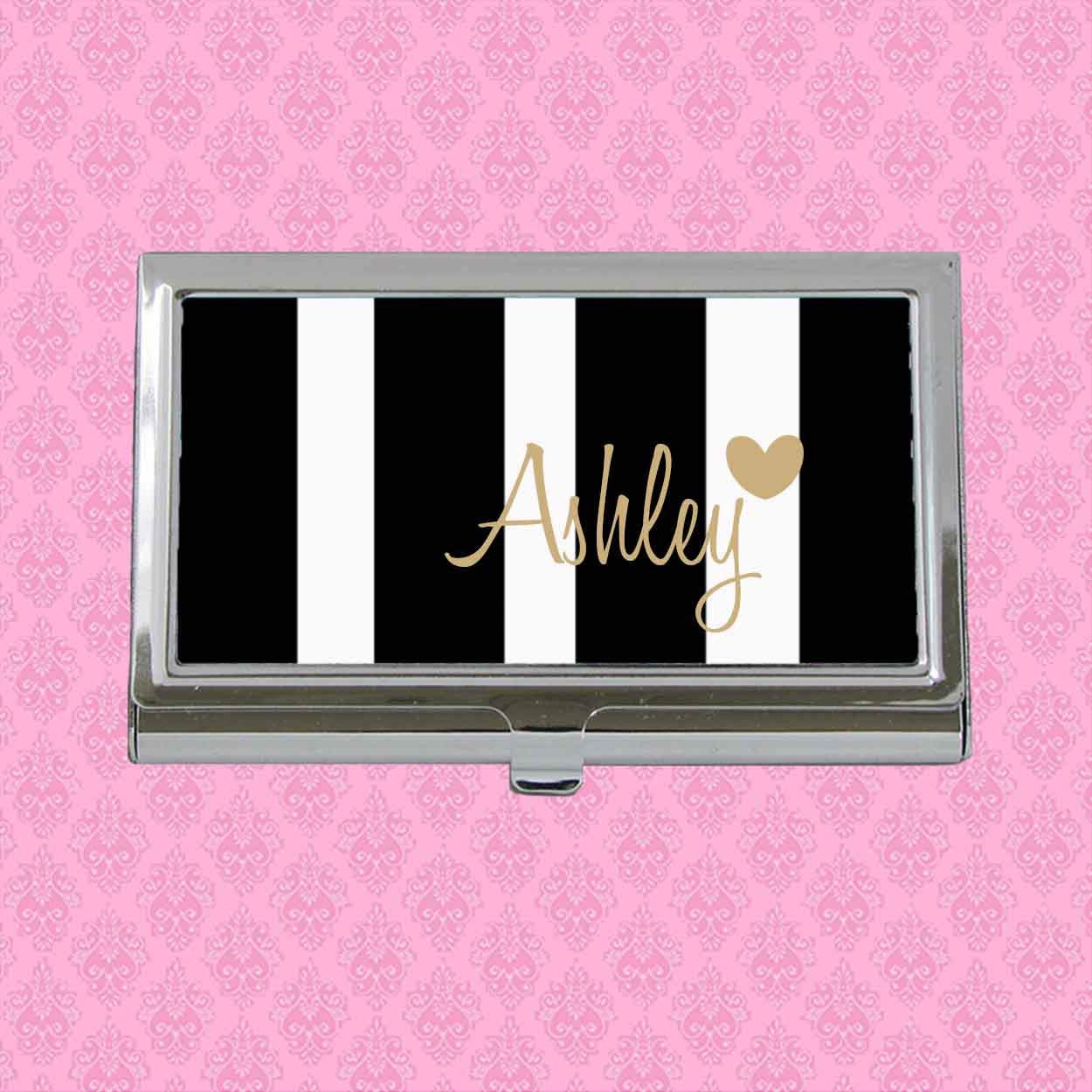 Personalized Business Card Case, Monogram Business Card Holder ...