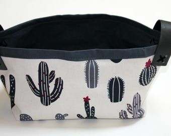Cactus Fabric Basket, Storage Bin.