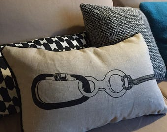 Pillows with rope and CARABINER
