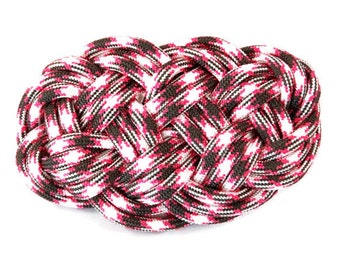 Pink Barrette, Celtic Barrette, Hair Barrette, Nautical Barrette, Hair Clip, Knot Barrette, Hair Accessory, French Clip, Celtic Knot