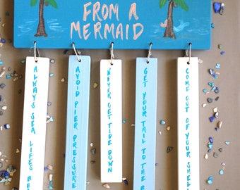 Mermaid Decor, Mermaid Sign, Advice from a Mermaid, Ocean Decor, Beach Decor