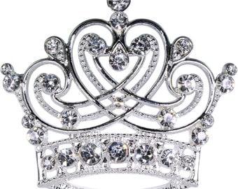 Style # 16123 - Swirling Heart Crown Pin