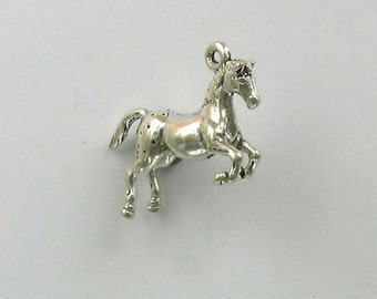 Sterling Silver 3D Appaloosa Horse Charm