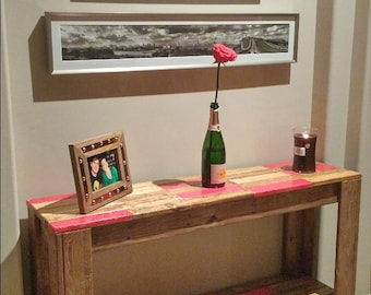 Sofa Table (Stain with Red Accent)