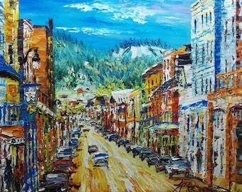 Main Street, Park City, Utah-Pen King -A1223