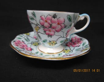 "Foley English Bone China ""Springdale"" Cup and Saucer"