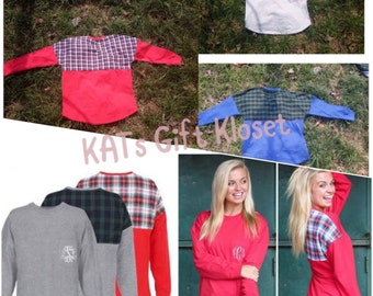 Plaid Pullover Jersey