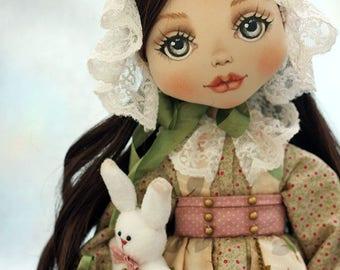 Textile doll Teresa, ooak, doll, art doll
