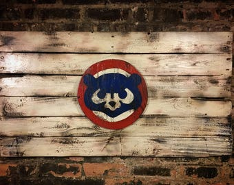 Chicago Cubs, City of Chicago, Chicago Art, Chicago, Vintage Sign, Vintage Chicago, Chicago Sign, wooden signs, Chitown, Second City, Cubs