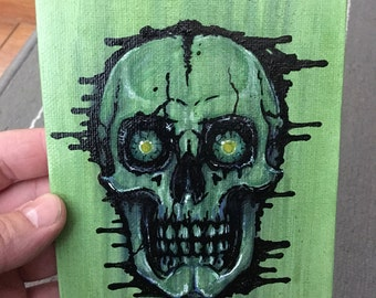 Skull Monster Painting