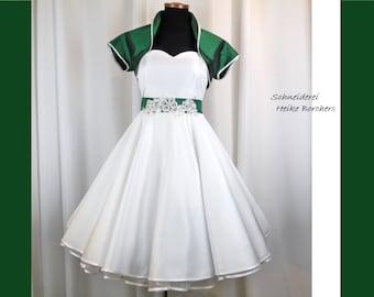 Wedding dress, wedding dress bridal gown, rockabilly wedding dress included Bolero and Petticoat