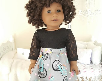18 inch doll skater skirt