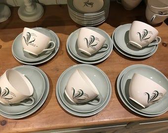Spode/Copeland Olympus large tea set for 12
