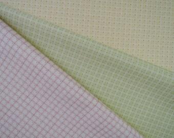 Bundle of 1/8 Ambleside by Brenda Riddle Designs for Moda Fabrics Dotty Plaid in 3 colorways.