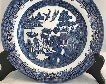 Churchill Blue Willow Dinner Plate