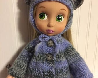 "Vest and doll hat for 16"" doll"