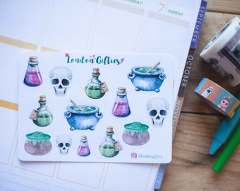 Potions master - decorative watercolour planner stickers suitable for any planner -316-