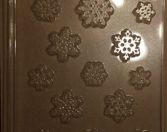 Snowflakes Cupcake/Pieces Chocolate Mold