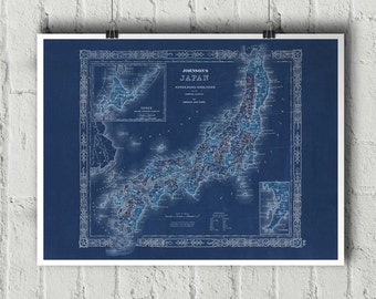 Japan Map Etsy - Japan map 4
