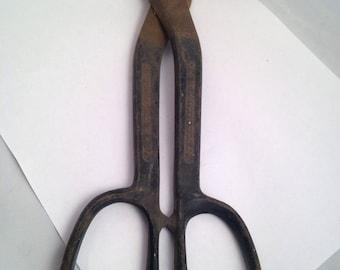 Vintage Crescent Brand Tin Snips Sheet Metal Tool Shears
