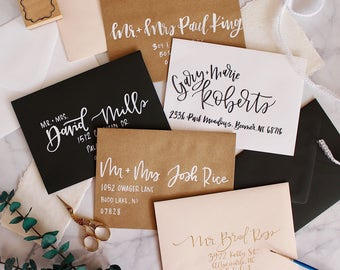 A7 Envelope - Hand Lettered - Modern Calligraphy - Envelope Addressing