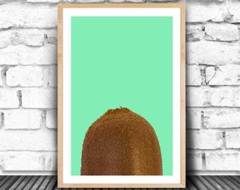 Kiwi Print, Kiwi Wall Art, Fruit Home Decor, Kitchen Wall Decor, Minimalist Art, Modern Minimalist, Greenery Kitchen, Kiwi Fruit, JPG FILES
