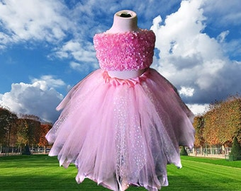 Pink Baby's Breath Sparkle Skirt