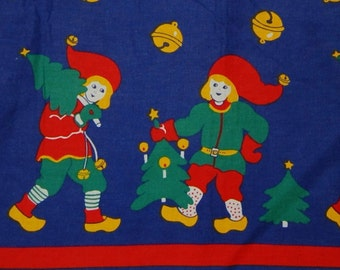 Christmas fabric, two pieces