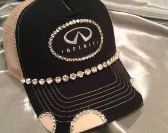 Hat, Womens Hat, Bling Trucker Hat, Trucker Hat, Infinity, Infinity Logo