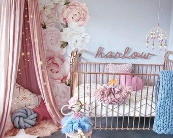 Girls Nursery Decals   Baby Girls Decor   Baby Girls Room   Baby Pink    Nursery Part 58
