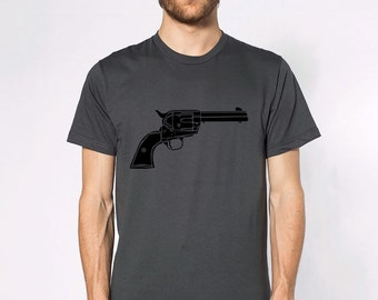 KillerBeeMoto: Limited Release Vintage Colt Single Action Army Pistol On Short or Long Sleeve T-Shirt