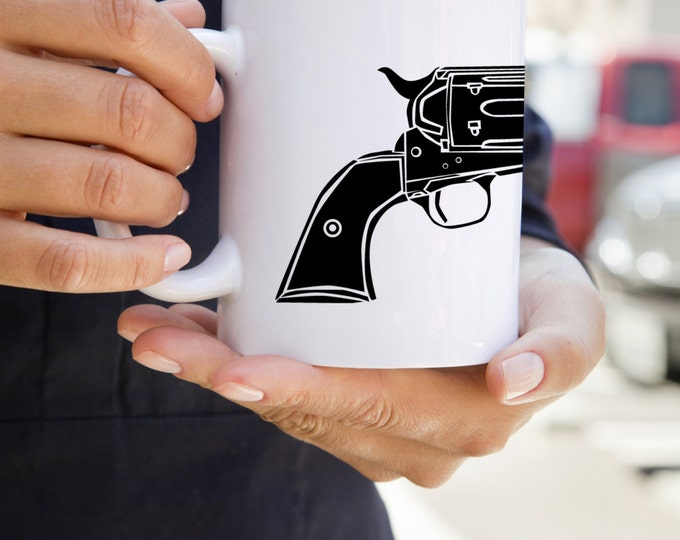 KillerBeeMoto:  U.S. Made Vintage Colt Single Action Army Pistol On A Coffee Mug