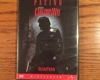 Vintage 90's Carlito's Way DePalma Al Pacino Gangster DVD Video Movie