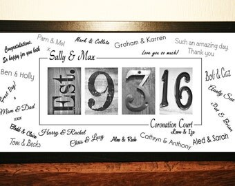Wedding Guest Book Print, Guest Book Alternative, Guest Book Idea