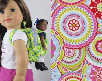 Mini Doll Backpack in Bodilla Packed
