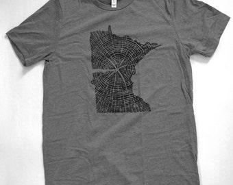 Naturally Made Minnesota Tree Ring T-shirt