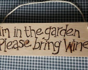 Pyrography Garden Signs