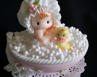 Baby Shower Cake Topper, Baby shower Favor, Baby Cake Decoration, Baby Girl Favor, Baby Girl Cake, Twins Baby Shower, Baby Boy Cake Topper