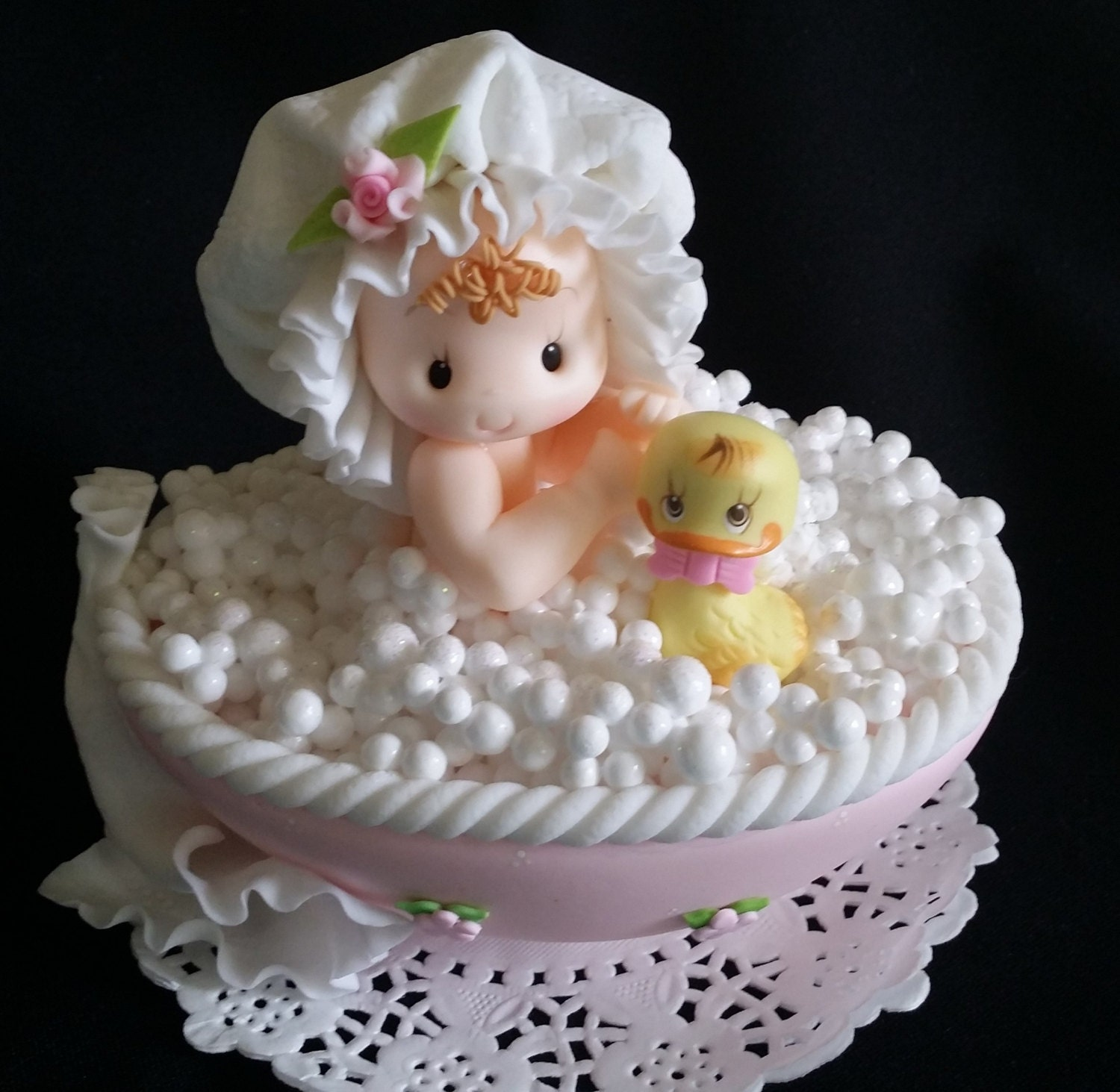Twin Baby Shower Cake Toppers: Baby Shower Cake Topper, Baby Shower Favor, Baby Cake