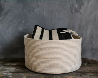 Rope basket, Storage basket,Toys basket, Bathroom storage basket, Large basket