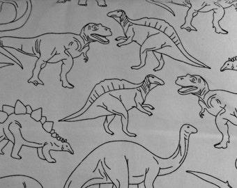 Boy's Pajama Pants - Dinosaur Pattern - T-rex White & Black Print - Kid's Sleepwear Children's Loungewear - Cozy Pajama Bottoms Sleepwear
