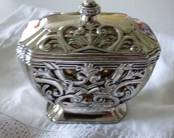 Godinger Glass lined Trinket Pot