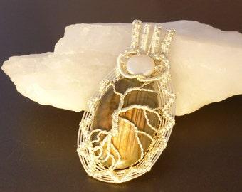 Labradorite pendant, tree of life pendant, silver pendant, tree of life, tol