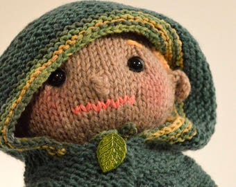 Elf, Elf doll, knitted elf doll, knitted doll, stuffed elf, handmade toy, Eclectic Wandering, knitted toy, child's gift