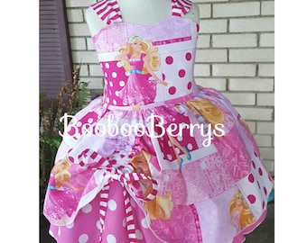 Barbie boutique dress, barbie berry style boutique couture dress, barbie birthday dress, barbie party dress, barbie photo prop