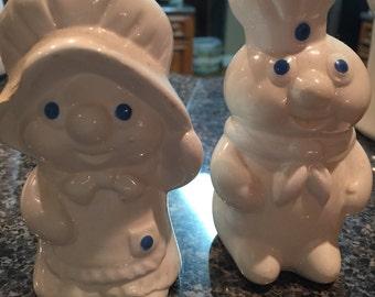 Dough Boy and Girl Salt & Pepper Shakers